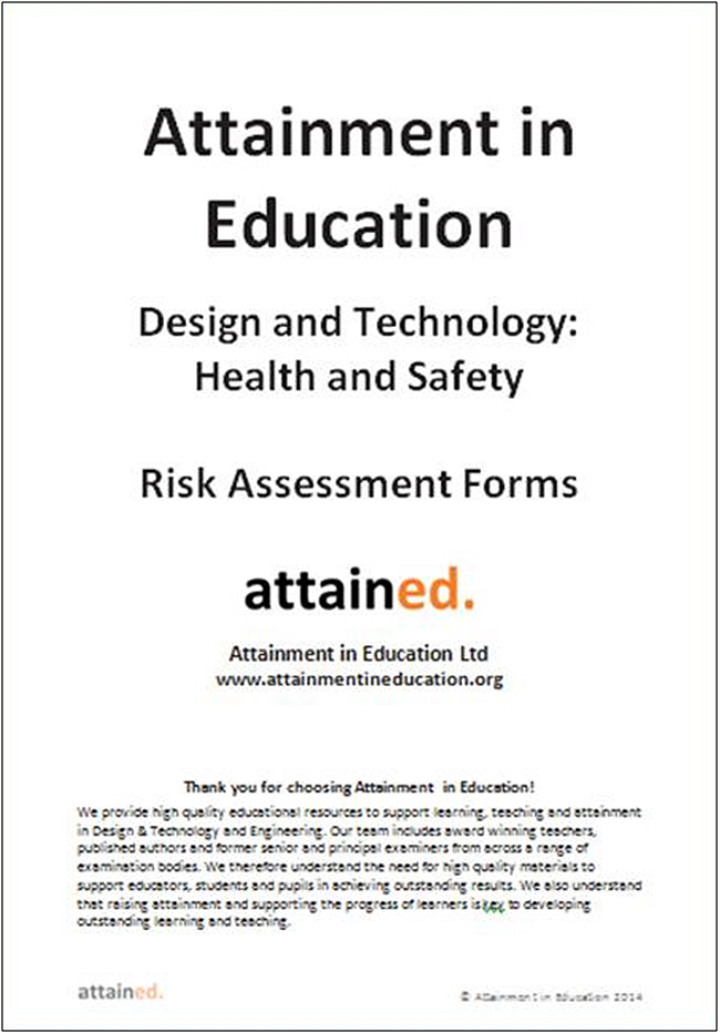DT Health And Safety Risk Assessment Forms  DT Association