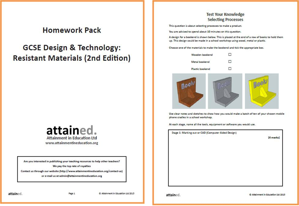 aqa resistant materials coursework help We study the aqa resistant materials course year 10 resistant materials coursework we have examples of coursework from.