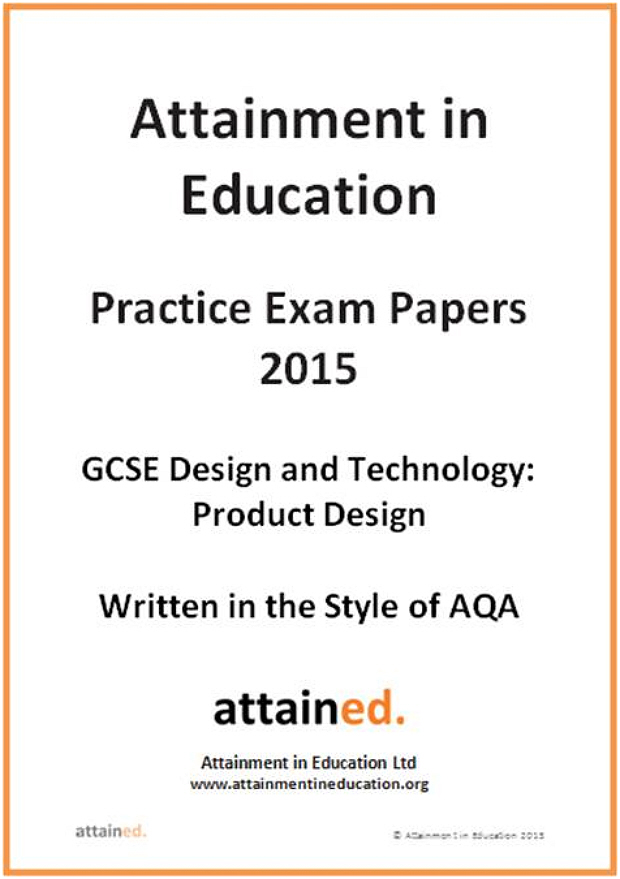aqa design and technology product design coursework specification This specification is one of a suite of eight in design and technology offered by aqa there is one tier of assessment covering grades a to g product design unit 1: written paper (45551) 40% of total marks 2 hours 120 marks candidates answer all questions in two sections pre-release material issued plus.