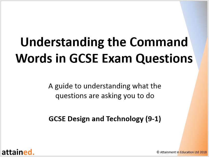 Understanding the Command Words in GCSE Exam Questions - NEW
