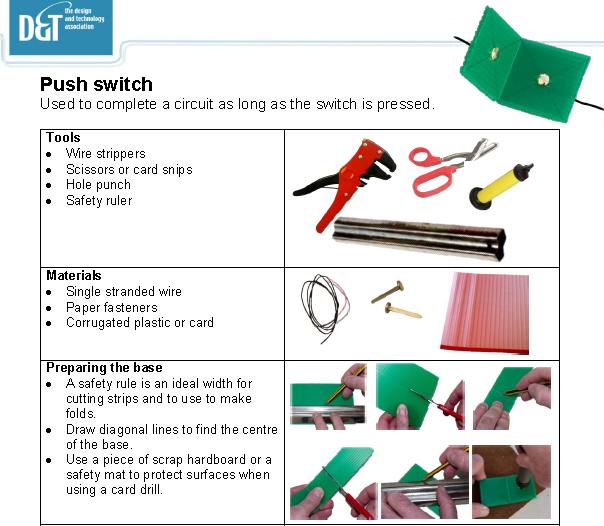 Hand-made switches helpsheet - D&T Association