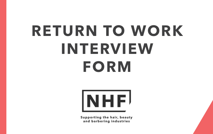 Return To Work Interview Form - Nhf